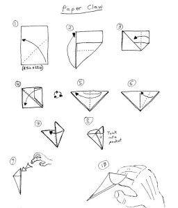 клыки из бумаги