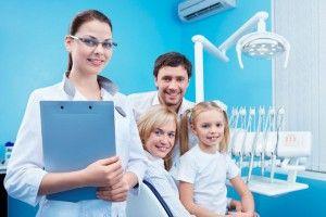 семья у стоматолога