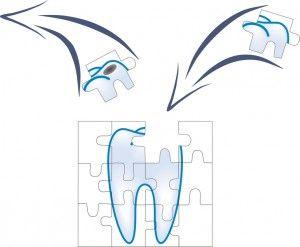 зуб из пазлов
